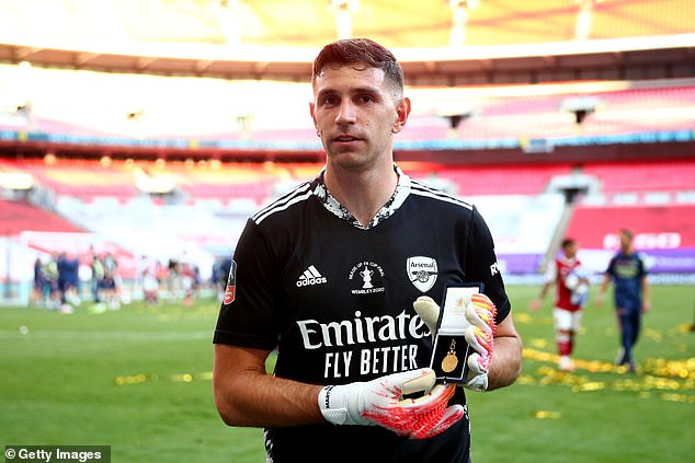 Emiliano Martinez impressed for the Gunners in their 2020 FA Cup run - but they let him go