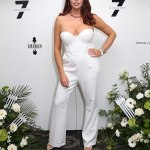 TOWIE's Amy Childs puts on a busty display in a white strapless jumpsuit at Sugar Hut💥👩💥💥👩💥