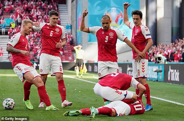 Andersen's Denmark team-mate Christian Eriksen traumatically collapsed during Euro 2020