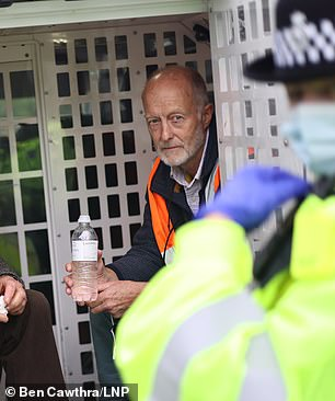 WEDNESDAY: He was detained by police again just two days later for blockading J23 of the M25