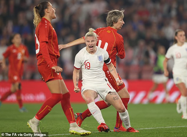 Beth England came on in place of White and, not to be outdone, scored two goals of her own