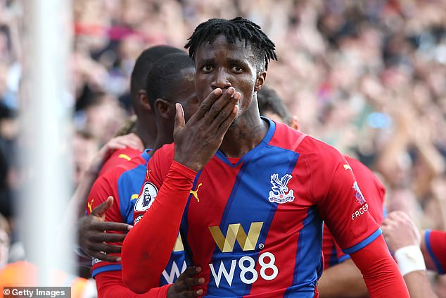 Wilfried Zaha says his passion and desire for his team to succeed causes him to 'moan'