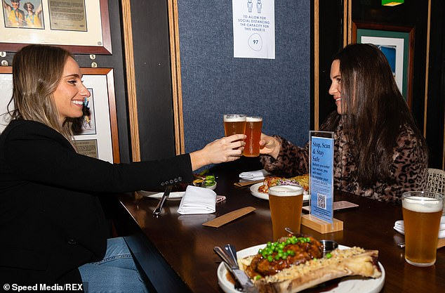 Indoor dining may still be a thing of the future even once 70 per cent of the population is double jabbed