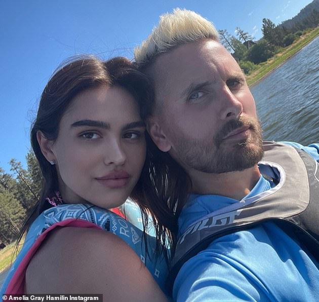 Better times: Amelia and Scott (pictured), 38, reportedly