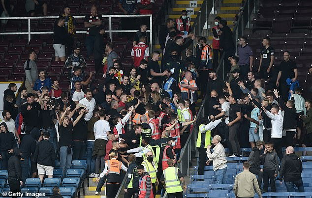 Arsenal and Burnley supporters clash in ugly scenes after Premier League encounter