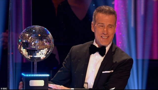 Here he is! Anton Du Beke took his place on the judging panel