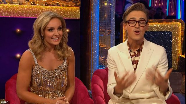 It's Amy! Tom's partner was unveiled as Amy Dowden who promised to be 'kind and patient' with the pop star, who was delighted to find out who he'd been paired with
