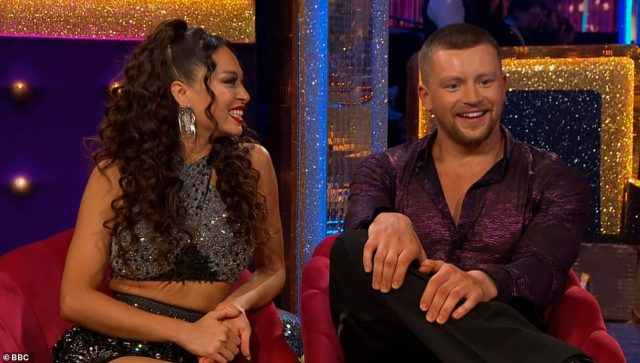 It's Katya! Adam's professional partner was unveiled as Katya Jones, who told viewers: 'This is how it's going to work - I tell him what to do. He listens and does'