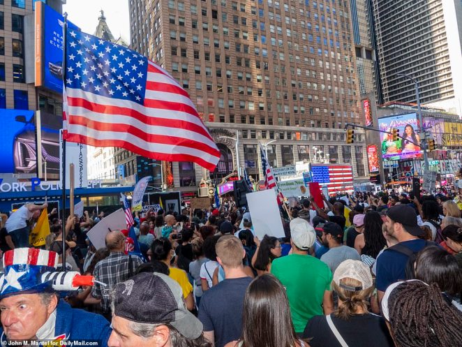 Thousands of people rallied in the city center on Saturday for the protest