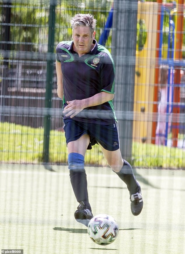 Arsenal fan Sir Keir spoke of the 'real buzz' he felt to be back playing at the Talacre Sports Centre after Covid restrictions were eased