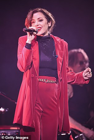 Tina pictured performing in May 2021
