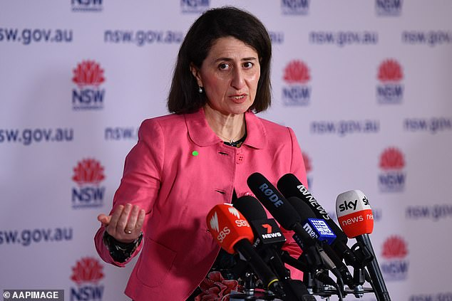 NSW Premier Gladys Berejiklian warned residents to not let their guard down, despite declining Covid cases