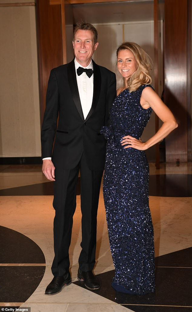 Christian Porter (pictured with wife Jennifer before they separated) has vowed to recontest his seat