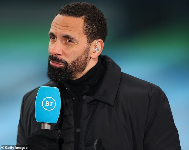 Jones also hit back at Rio Ferdinand's (above) 'poor' comments calling him a 'waste of time'