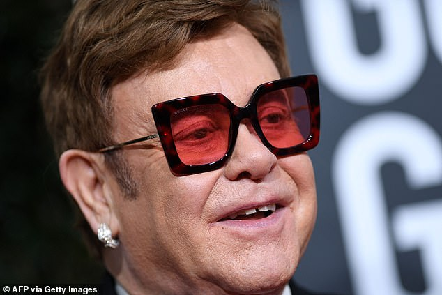 Pals: Duncan worked on the singer's hit show The Rocket Hour, where they quickly became friends, and after his diagnosis of a terminal brain tumor, Elton kept in touch with his boyfriend (pictured in 2020)