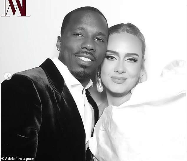 Couple: Adele went official on Instagram with her new boyfriend Rich Paul as she shared a photo booth of the couple on Sunday