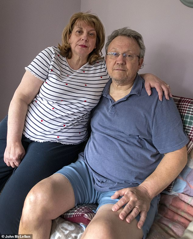 Lisa King, 55, sobbed as she told how she lost her beloved husband Peter after his GP denied him a face-to-face appointment. She said the 62-year-old retired taxi driver's death had been 'tragic and avoidable…just completely unnecessary'