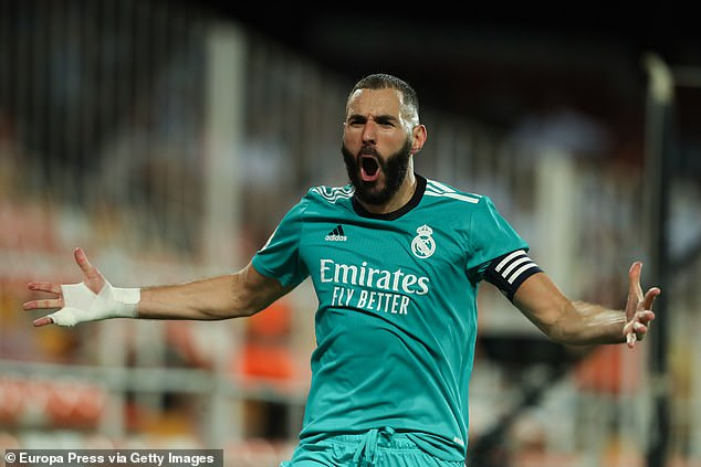 Karim Benzema's unconventional strike gave Real Madrid all three points at the Mestalla