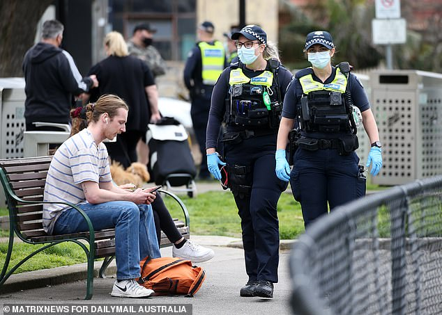 Business groups and the opposition have questioned why Sydney is on track to enjoy far more freedoms than Melbourne (pictured) despite having less Covid-19 cases and deaths