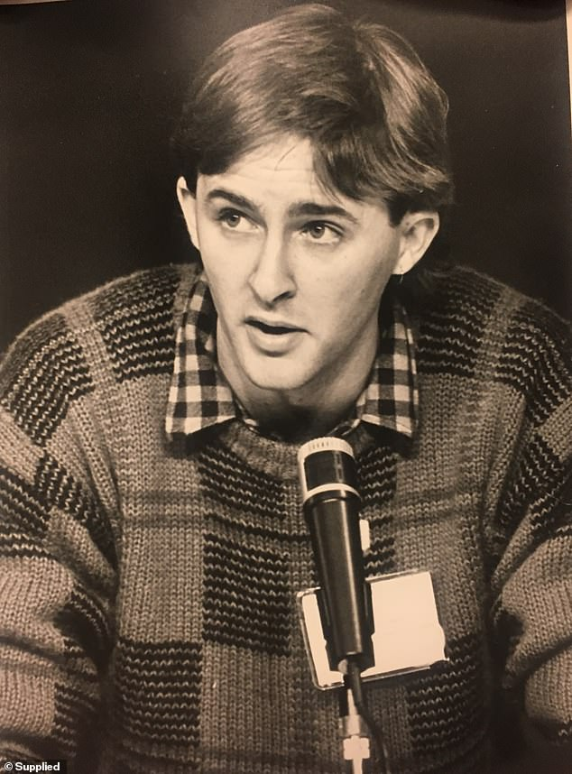The Labor leader is pictured in 1986 at Labor's National Youth Conference in Hobart when he was 23