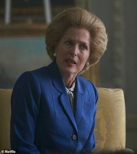 Ripped from the headlines: Gillian stars as British Prime Minister Margaret Thatcher in season four of the hit historical drama. It was the actress' second win in 24 years following her award for The X-Files