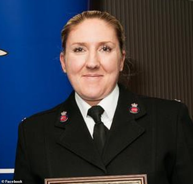 Sgt Molly Edwards (pictured) and her lover PC Richard Paton's affair was exposed after suspicious bosses bugged the vehicle