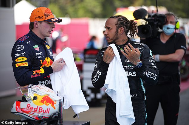 Hamilton and Verstappen are in a fierce title battle with the Dutchman five points in front