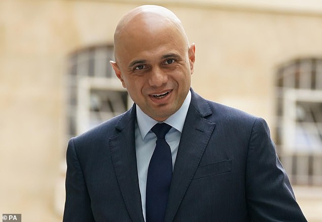 This comes just weeks after Health Secretary Sajid Javid (pictured) told MPs he would be 'attentive to any waste or wake-up call' from the NHS.