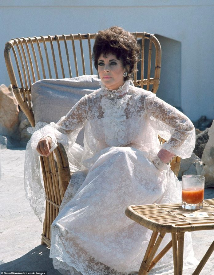 The actress, pictured in a white floral lace dress, was 36 when she landed a box office hit