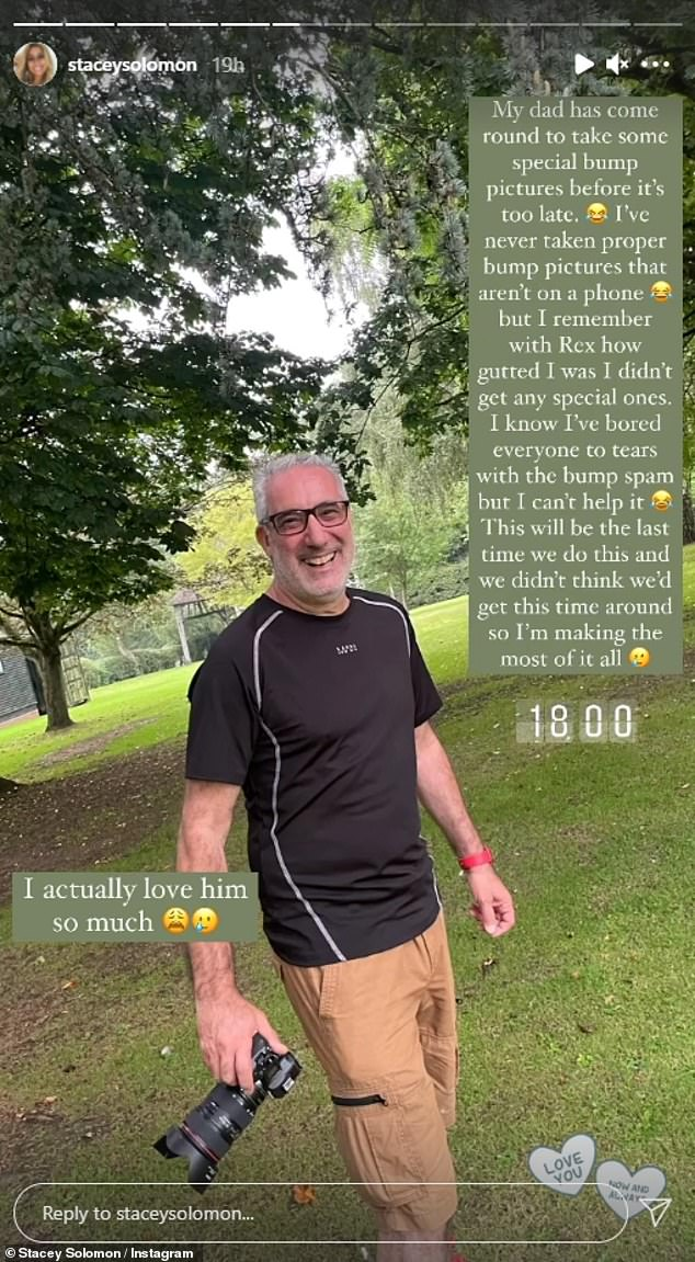 Family: She also took to her story to share a picture of her father from her camera before the photoshoot