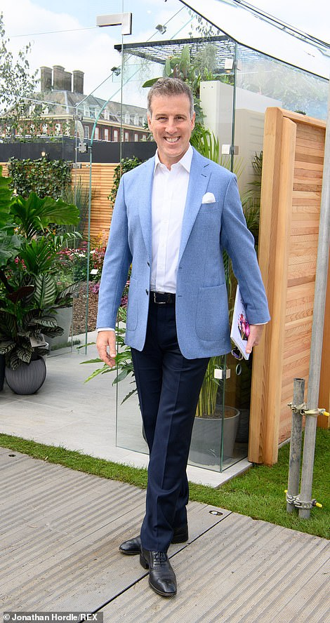 Ballroom dancer Anton Du Beke, wearing a smart blue blazer looked enthusiastic during the event