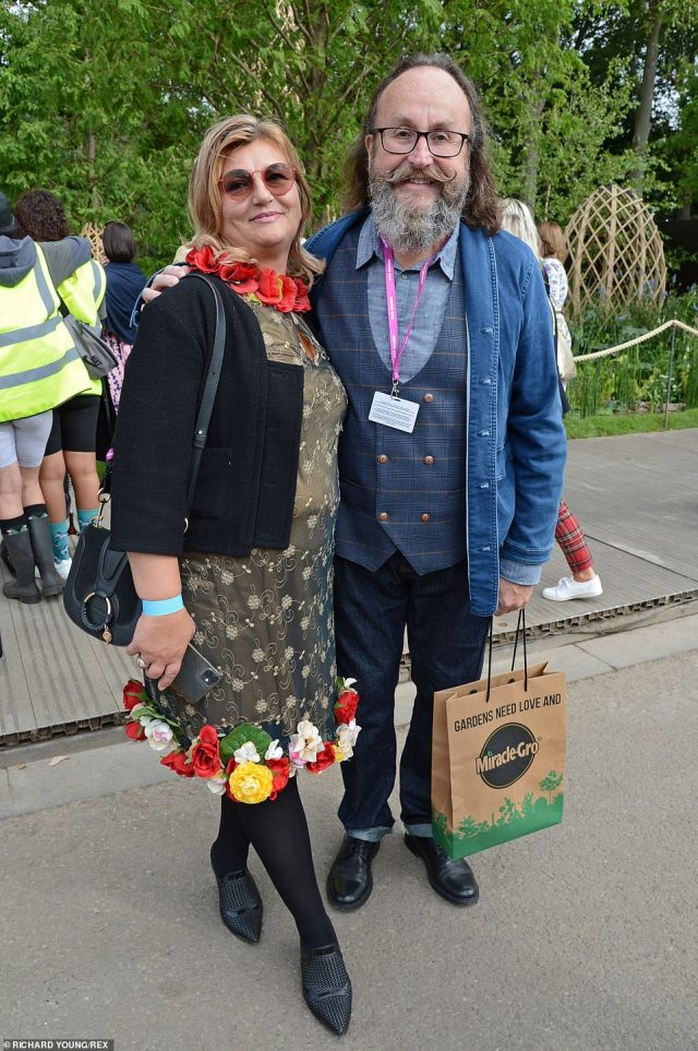 Dave Myers, who is one half of the Hairy Bikers - who were beloved by the late Prince Philip - attended with his wifeLiliana Orzac who wowed in a pretty dress