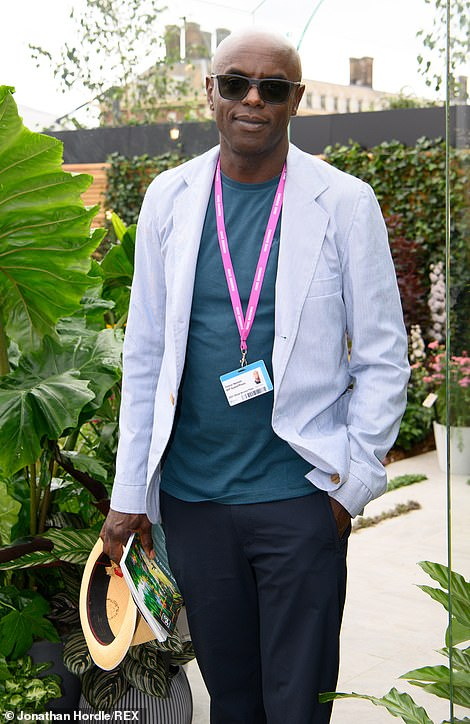 DJ Trevor Nelson played it cool with sunglasses and a hat as he explored the Dobbie garden