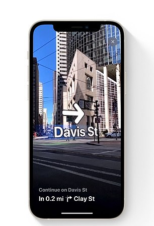 Maps in iOS 15 guides you to your destination with step-by-step directions you can view in augmented reality
