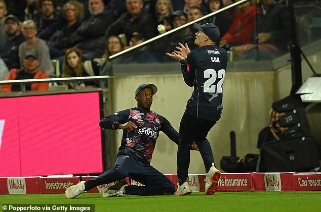 Jordan Cox collided with Daniel Bell-Drummond in the T20 Blast final catching Will Smeed