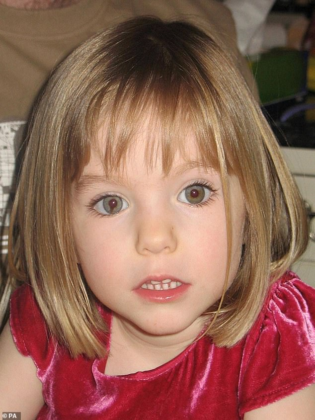 Madeleine disappeared on May 3, 2007 in Praia da Luz on the Algarve coast of Portugal during the McCann family vacation.  He is presumed dead, while his alleged killer is in prison in Germany for several other sex crimes