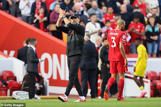 Jurgen Klopp will make several changes to the team that beat Crystal Palace on Saturday