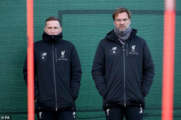 Reds assistant manager Pep Legenders (left) has labeled Gordon a 'distinctive Liverpool winger'