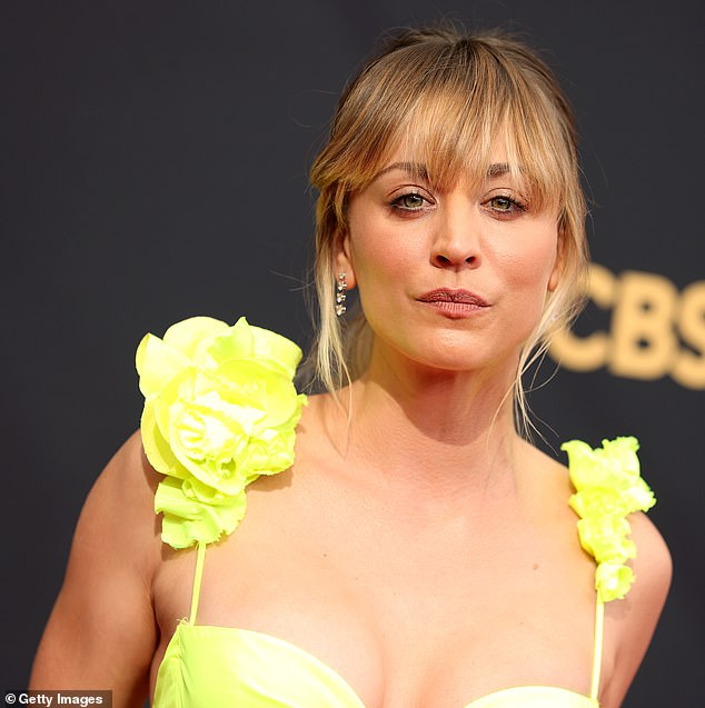 Kaley Cuoco looked picture perfect on the red carpet at the 73rd Primetime Emmy Awards