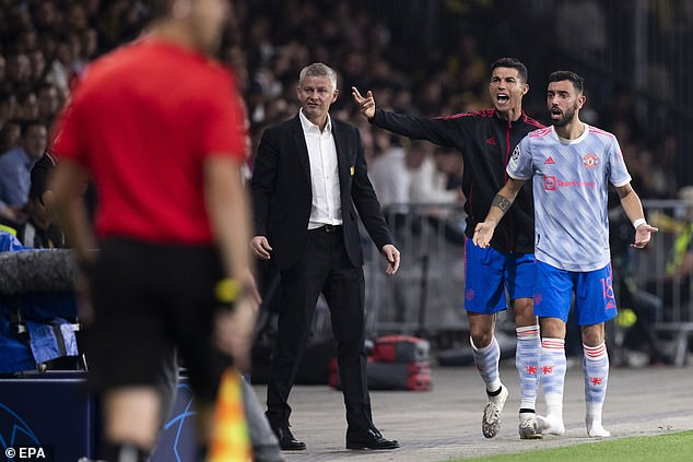 Cristiano Ronaldo's antics in the dugout during United's defeat were also criticized by the Young Boys.