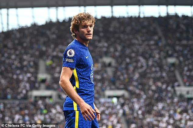 Marcos Alonso prefers to point to the No Room for Racism badge on his shirt instead of kneeling