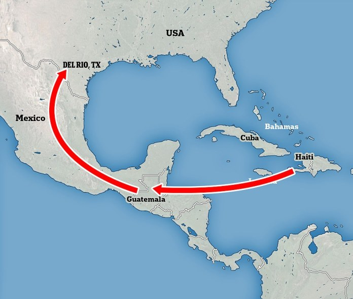 Many of the Haitians aiming to reach the U.S. are traveling from both Haiti directly and from other South American countries such as Chile and Brazil where they have lived since seeking refuge there after the 2010 earthquake