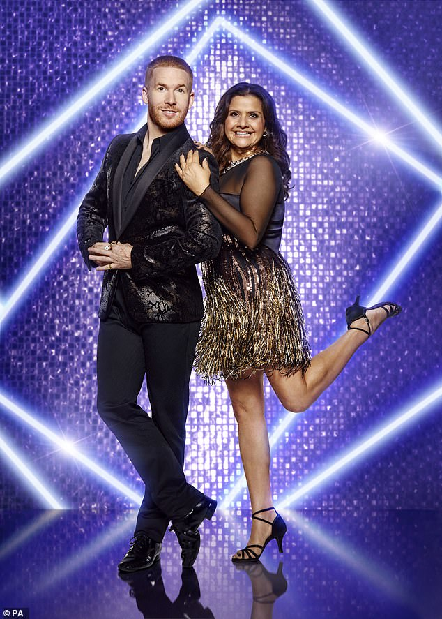 Hitting the dancefloor: Nina, paired with professional Neil Jones [pictured] Commented: 'It's funny how quickly the weight drops off after a little dance'