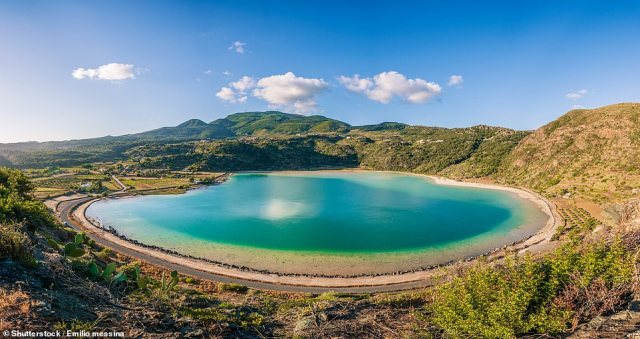 Pantelleria is a tiny volcanic outcrop that is home to aheart-shaped lake in a volcanic crater known as the 'Mirror of Venus'