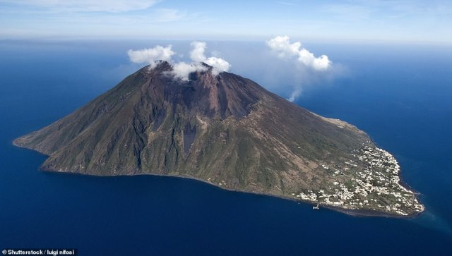 Stromboli rises nearly half a mile above sea level and its volcano is one of the world's most active