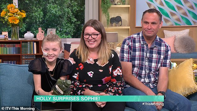 Sophie photographed with her mother Charlotte and dad Gareth.  Young was first diagnosed with incurable cancer during the lockdown last summer;  Her parents say they have now decided the quality of life is most important to them