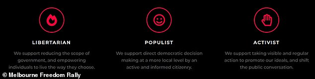 The websites claim the group has three sets of reasons for protesting - libertarianism, populism, and activism - drawing in as wide a coalition as possible