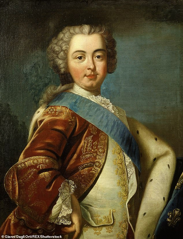 An author has claimed that the last king of France (pictured) was born with an autism-spectrum disorder, which made him vulnerable to the interests of ministers, struggling to be intimate with his wife Marie Antoinette and Was 'unable to see anyone through the eyes'.