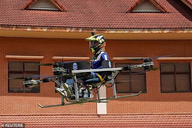 Cambodian students have created a prototype manned drone out of an unexpected piece of furniture - a school chair