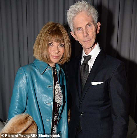 Buckley is pictured withBritish-American journalist Anna Wintour in 2013